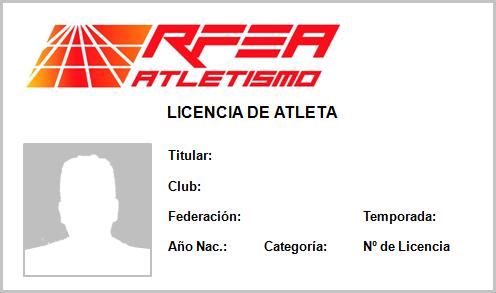 Carnet Licencia RFEA
